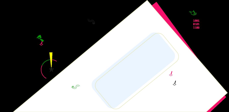 Illustration på ett brev